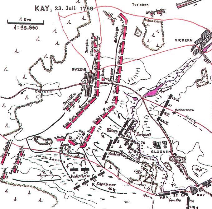 Сражение при Пальциге, 23 июля