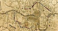 Осада Праги - Belagerung von Prag 1757, Kupferstich