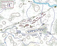 Карта сражения при Колине - 1757 - Map of the Battle of Kolin